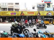 Offline Marketing at Madurai - Backlit Bus Shelters & Lamp Pole Kiosks
